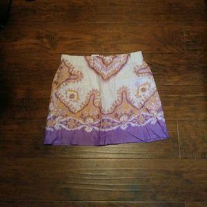 NWT J Crew Linen Skirt Size 6